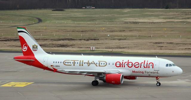 Air Berlin, D-ABDU, MSN 3516, Airbus A 320-214, 22.02.2016, CGN-EDDK, Köln-Bonn