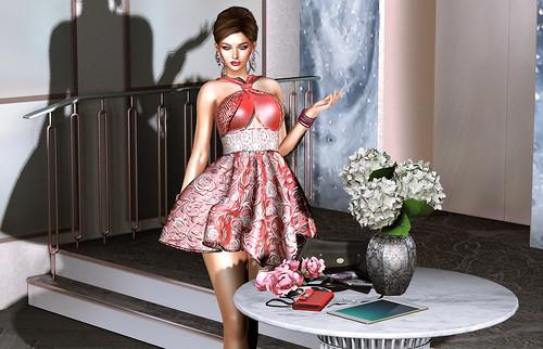 Virtual Diva Couture FLOWER Dress Bloggers Carmin