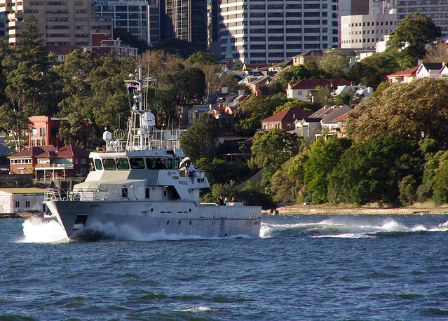 NSW Water Police launch 'OPV Nemesis', WP11
