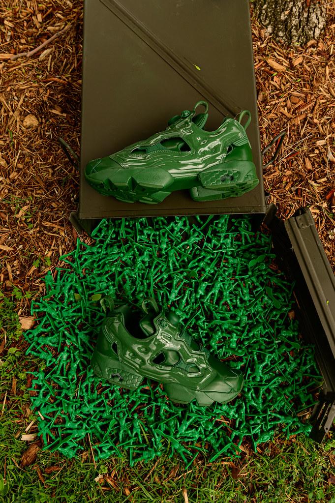 有種硬派的浪漫! BAIT ×《玩具總動員》× Reebok「Instapump Fury OG 綠色小兵」(Instapump Fury OG Green Army Men)