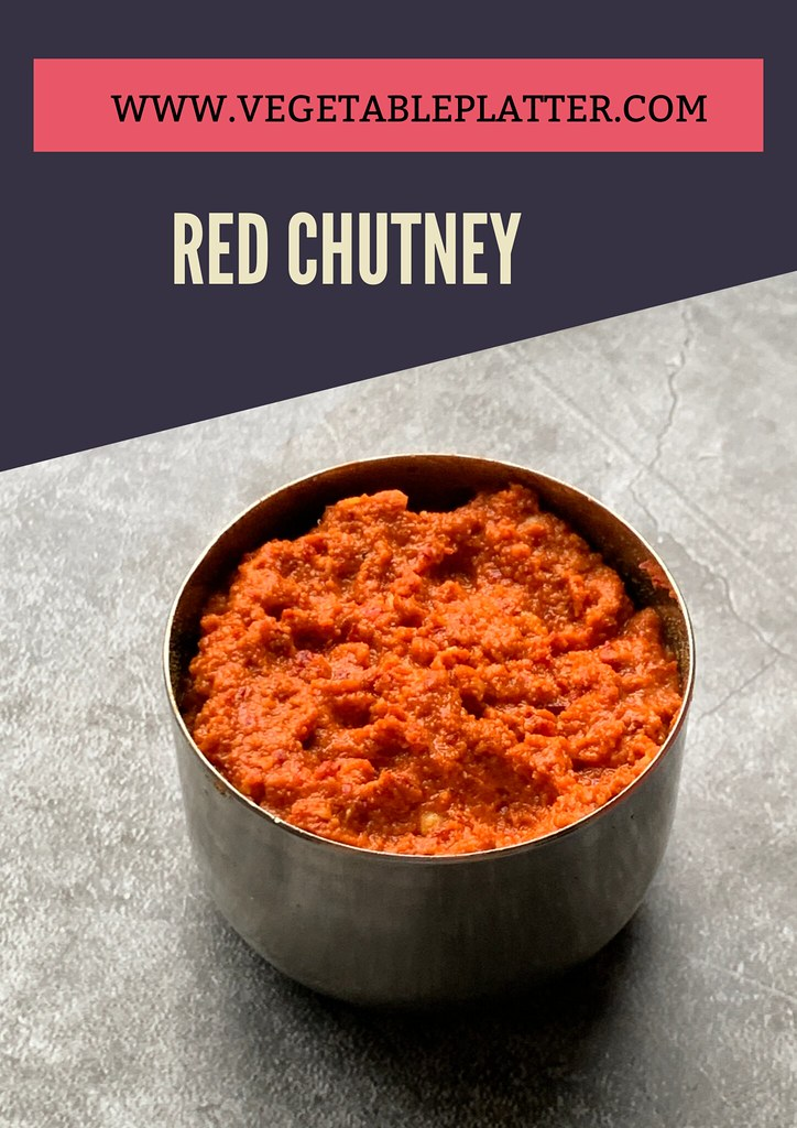 Red Chutney for masala Dosa