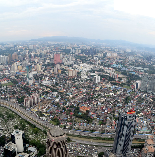 Birds Eye View From Petronas Twin Towers, Kuala Lumpur