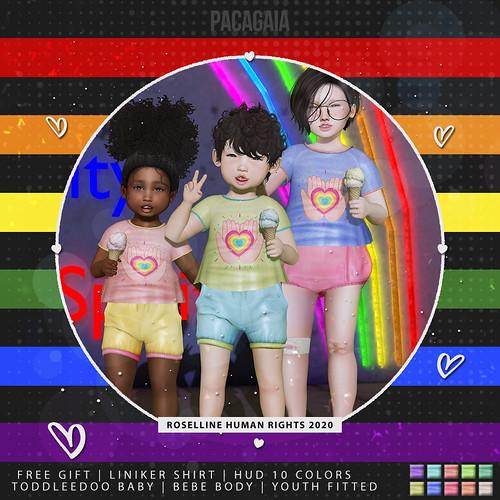 Pacagaia Kids - Liniker Shirt - Roselline Human Rights 2020