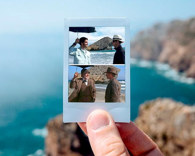 Escena Indiana Jones en Cala Monsul de Cabo de Gata