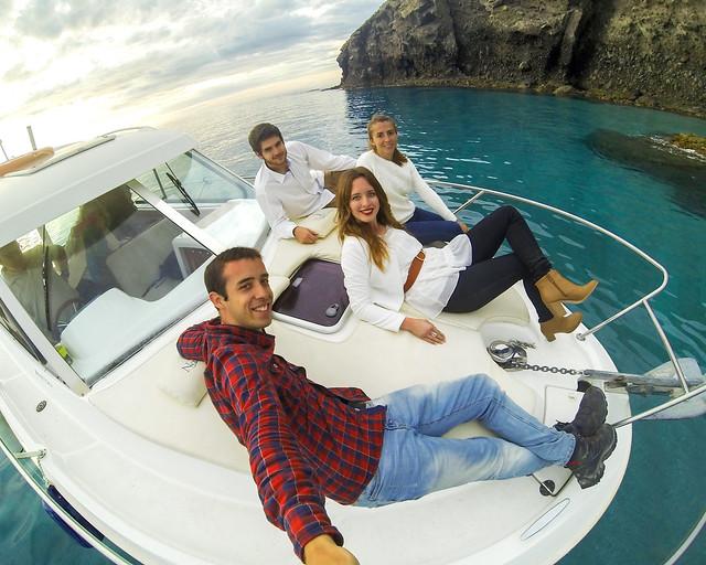Barco en Cabo de Gata