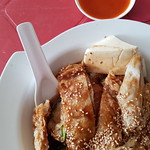 豬腸粉釀豆腐 Chee Cheong Fun rm$11.50 & 唐茶 Chinese Tea rm$0.20 @ Aunty Sally Yong Tao Foo in 樂園茶餐室 Restoran De Happy Land USJ 14