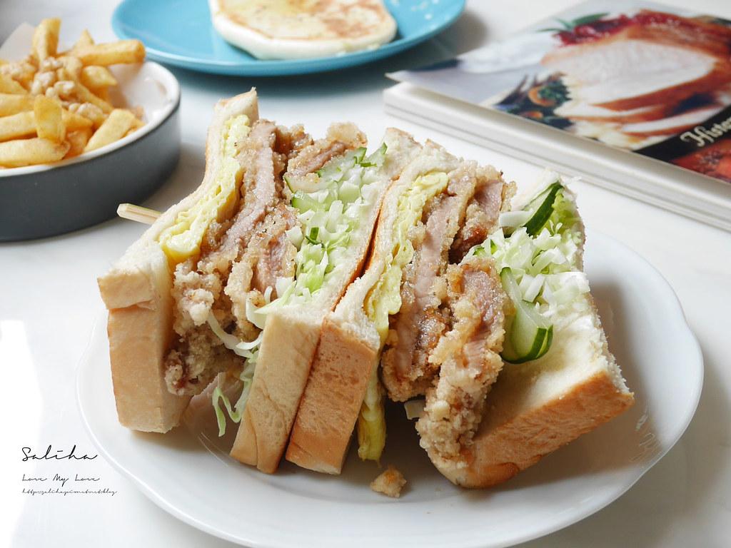 台北新北新店七張站文青早午餐廳推薦喜室早餐好吃三明治咖椰 (4)