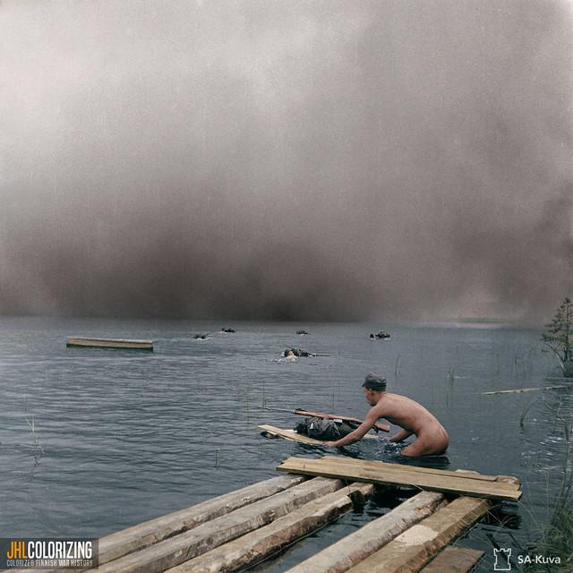 crossing lake, 1942.