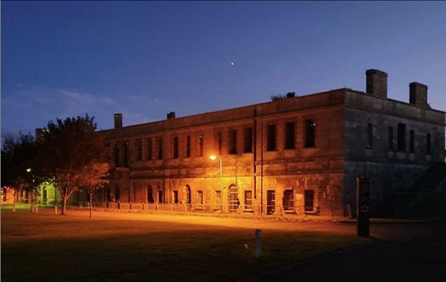 Georgina Ingham | Culinary Travels A Guide to Cork, Ireland. Spike Island is most famously known as Ireland's Alcatraz but there's much more to its history than that. This is a photo taken at night, looks a bit spooky doesn't it?