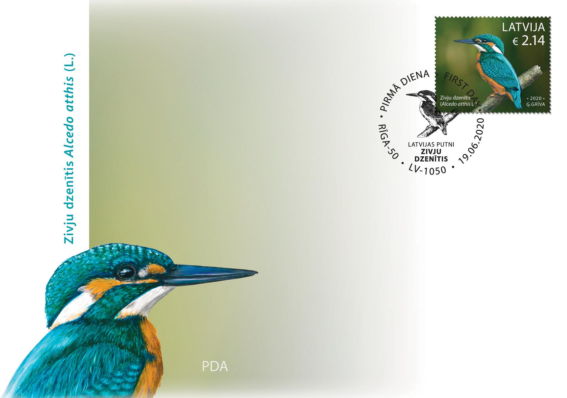 Zivju dzenītis pastmarka