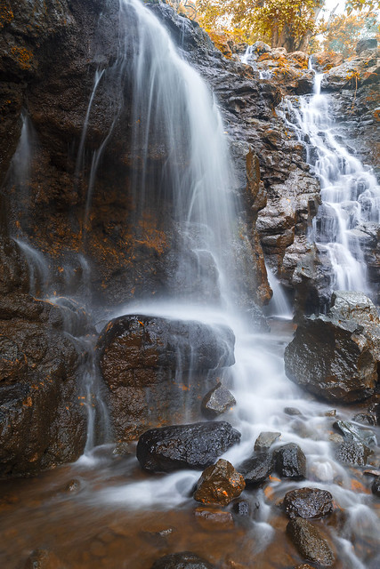 The flow of waterfall