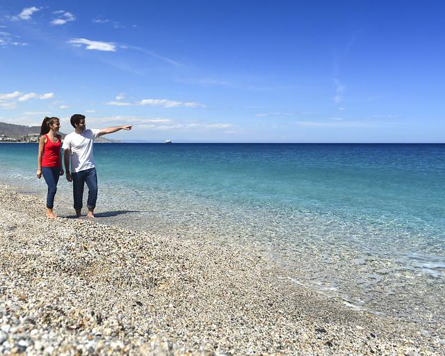 Aguas cristalinas de la playa de los Muertos