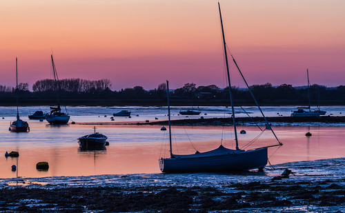 sunsettingglow sunsetsky silhouettesunset bosham westsussex