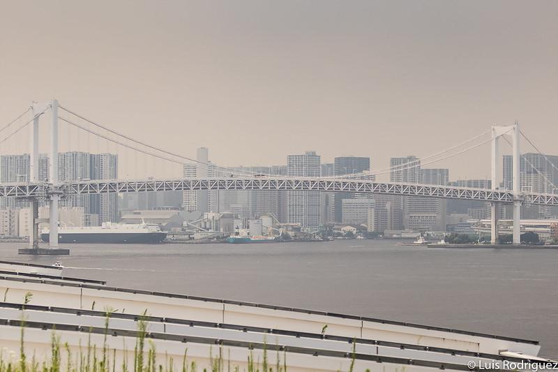 Rainbow Bridge de Odaiba desde el mercado de Toyosu