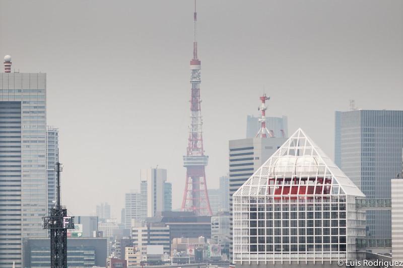 Torre de Tokio vista desde el mercado de Toyosu