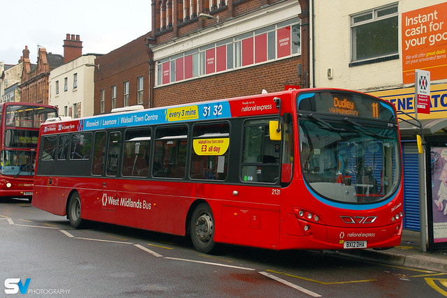 NXWM Wright Eclipse 2 Volvo B7RLE 2131 BX12 DHA Walsall on 11 to Dudley