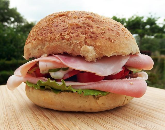 Broodje Ham  en Tomaat