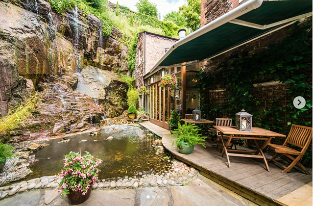 Georgina Ingham | Culinary Travels - A Guide to Cork Ireland - Hotel Isaacs with a beautiful Waterfall. It's not everyday you find one of those in an Irish hotel