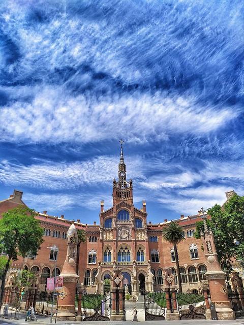 Barcelona. Hospital de Sant Pau. Modernismo. Artículo Nouveau.