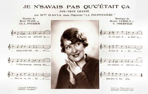 Davia in La Pouponnière (1933)