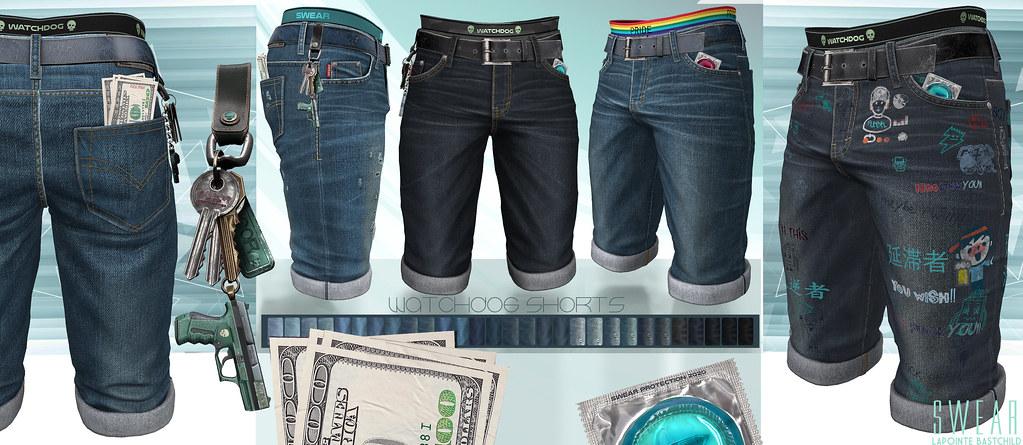 L&B@MAN CAVE June – Watchdog Denim Shorts