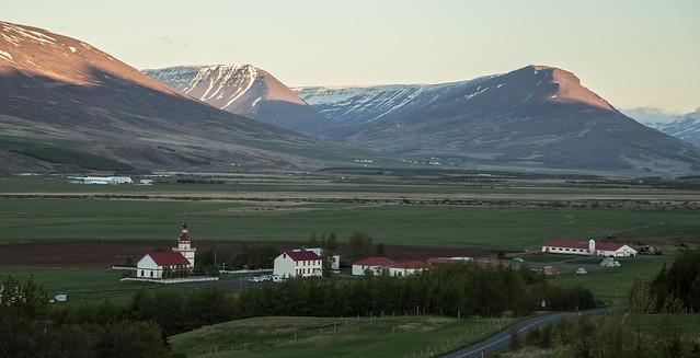 Summernight in county Eyjafjarðarsveit.