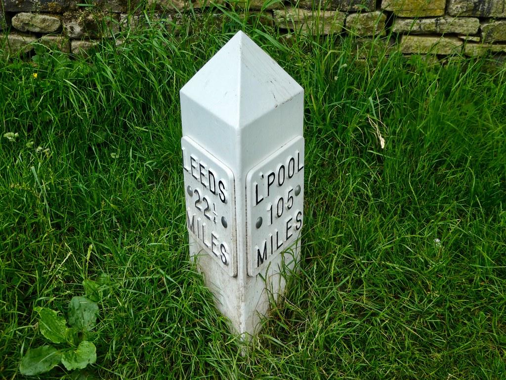 Milestone marker, Leeds Liverpool Canal