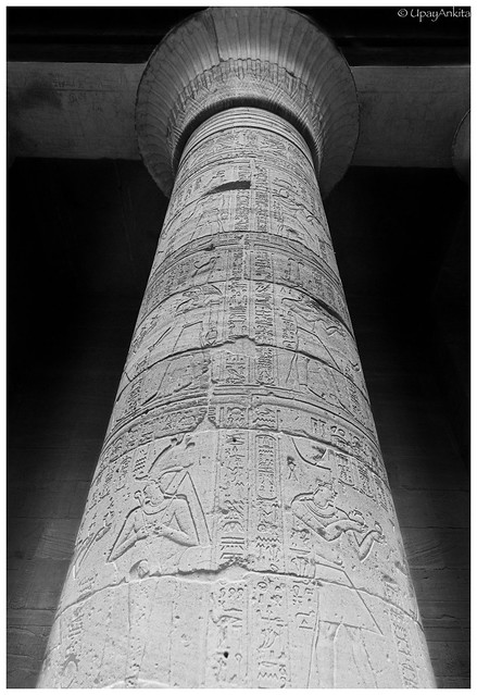 Column of Temple of Isis in Philae