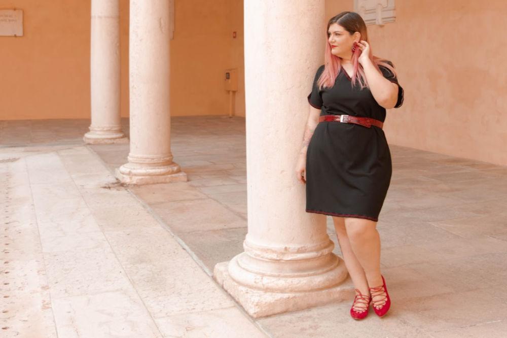 outfit curvy, abito handmade, tutorial di cucito semplice (10)