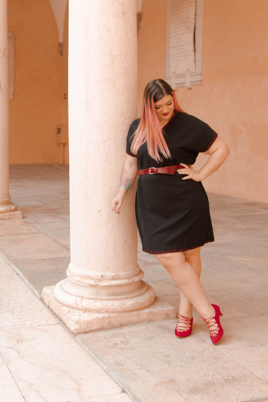 outfit curvy, abito handmade, tutorial di cucito semplice (4)
