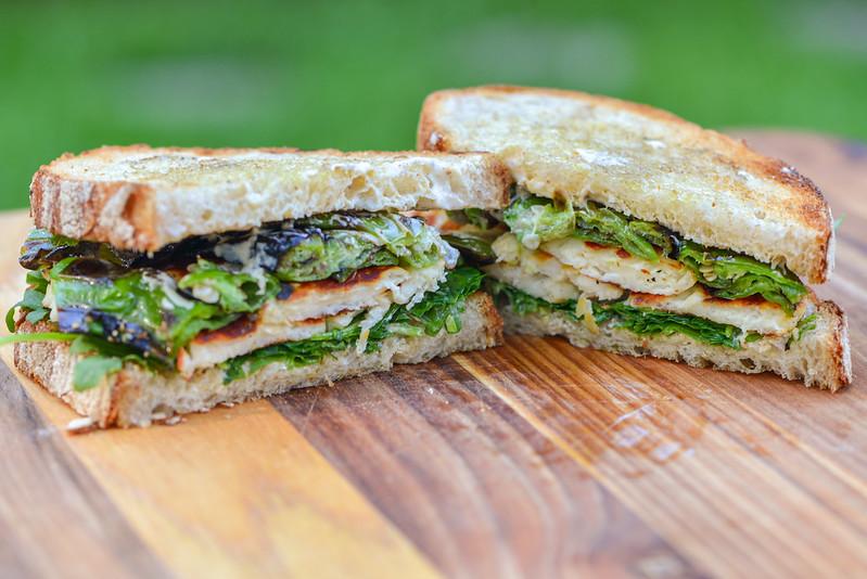 Grilled Halloumi and Shishito Sandwiches