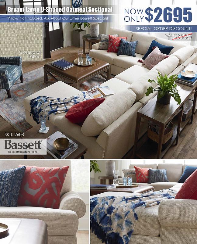 Bryant U Shaped Sectional by Bassett Furniture_2608