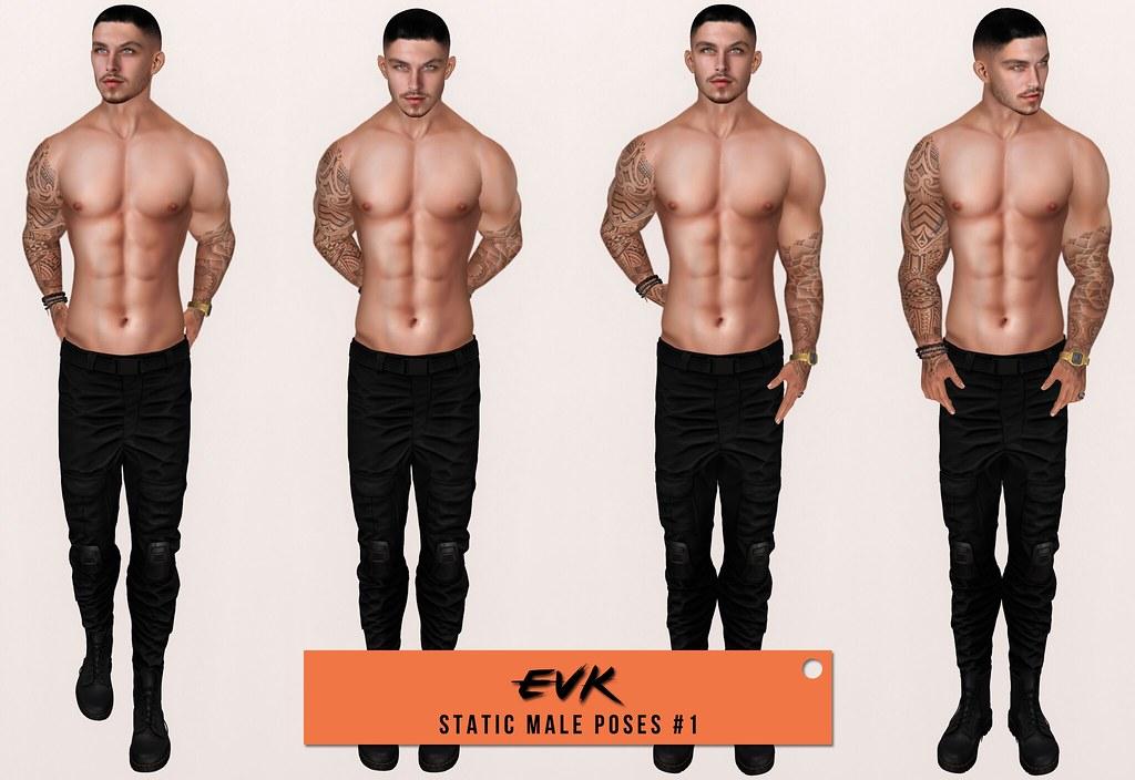 [ E V K ] Static Male Poses #1