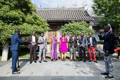 Prince Youlou au siège de Huawei à Beijing, Seed For the Future 2018