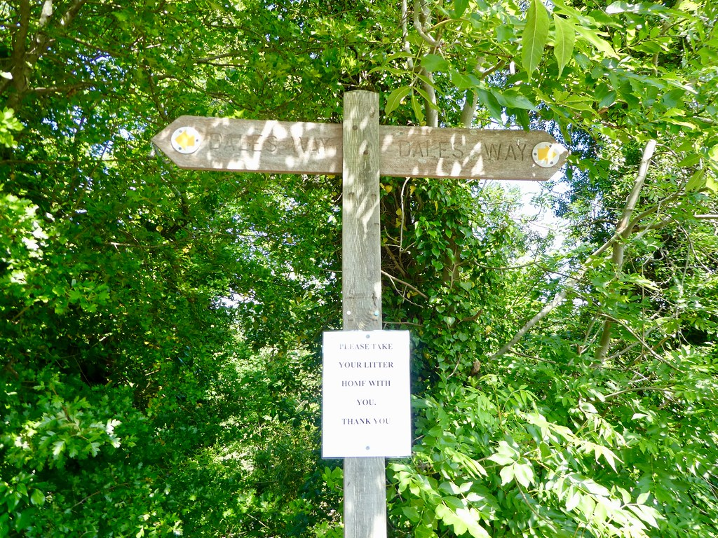 Dales Way signpost in Addingham