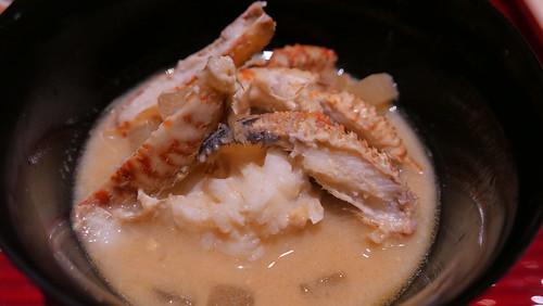 銀座 結絆33 とげくり蟹 白味噌大根鍋モエシャン仕立て蟹味噌入り
