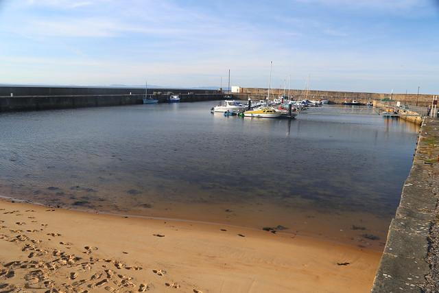 The harbour at Hopeman