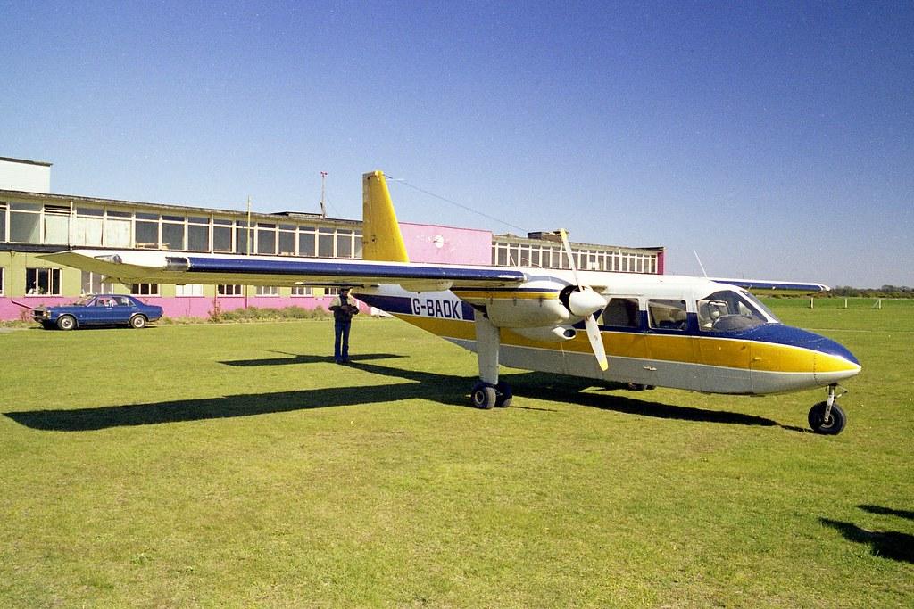 Britten Norman Islander G-BADX, Ipswich Airport c 1980