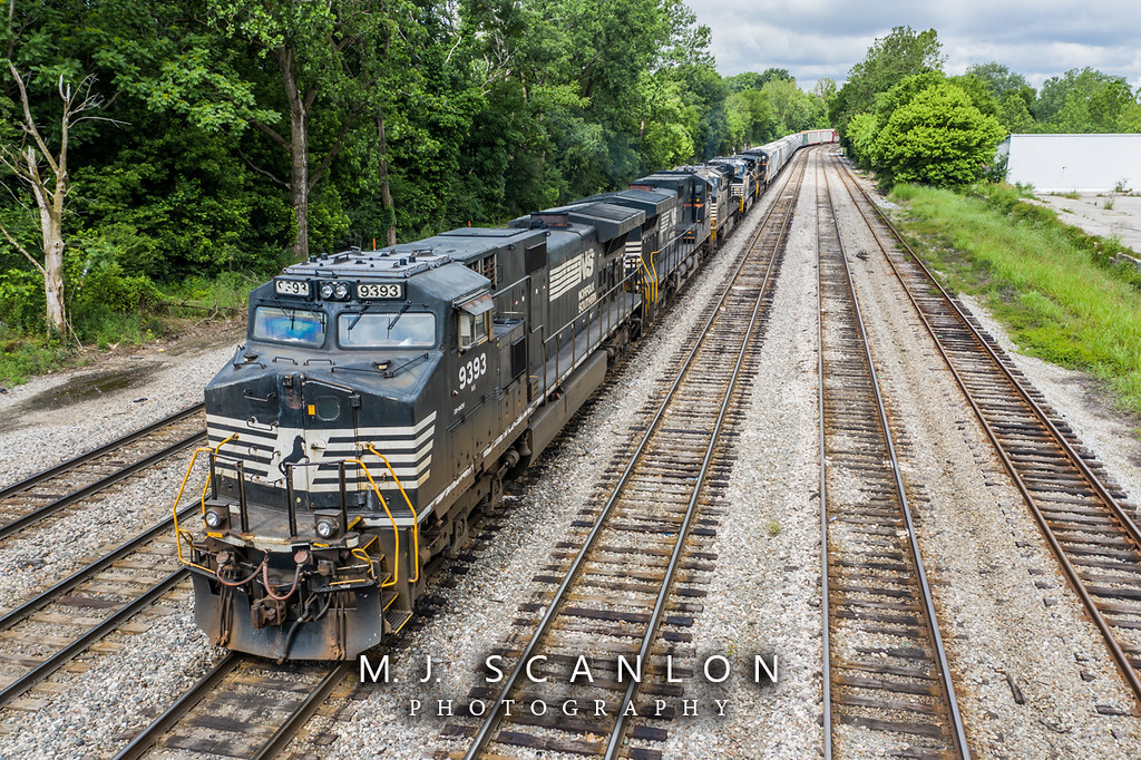 NS 9393 | GE C44-9W | NS Memphis District West End