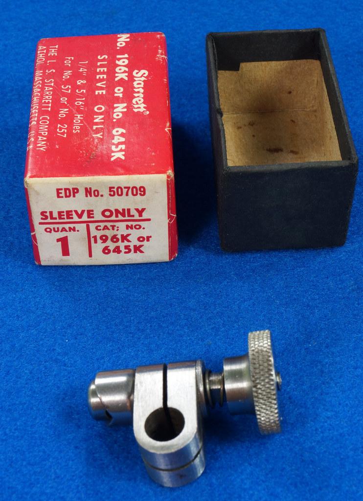 RD19920 Starrett 196K or 645K Sleeve Only in Original Box For 57 or 257 DSC08062