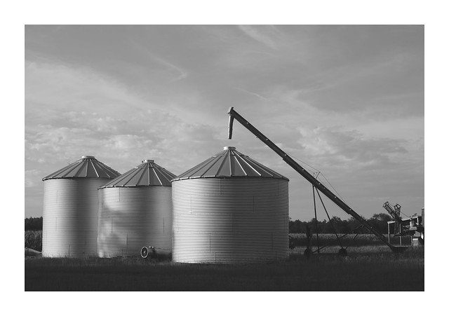 3 grain silos