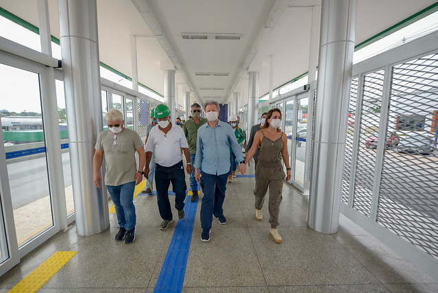 16.06.20 Prefeito realiza última inspeção no complexo da Constantino Nery antes da entrega