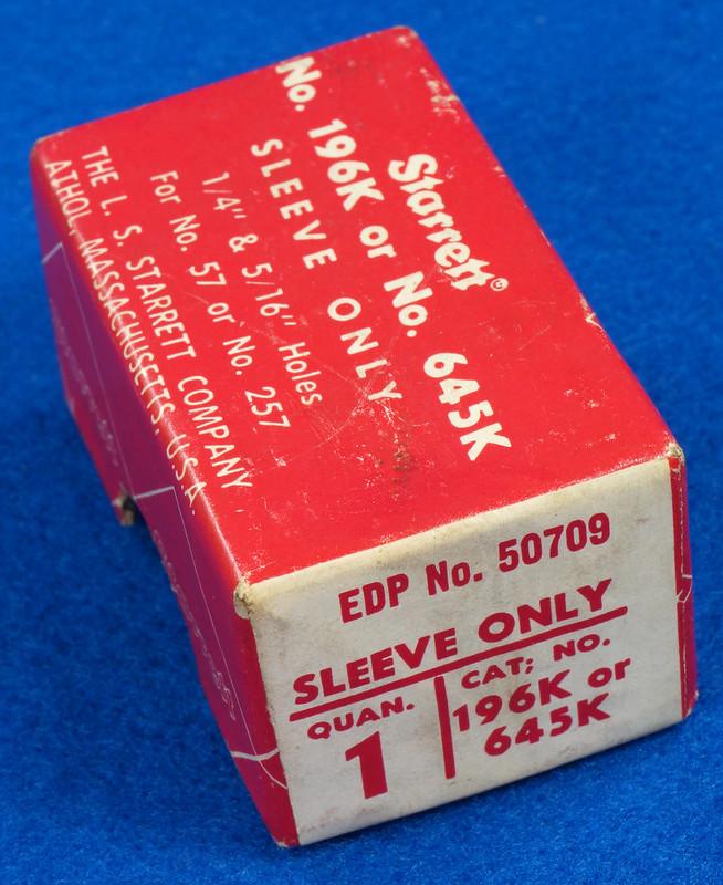 RD19920 Starrett 196K or 645K Sleeve Only in Original Box For 57 or 257 DSC08064