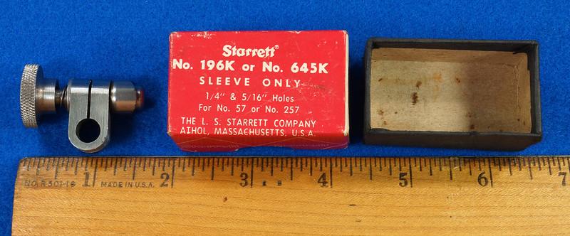 RD19920 Starrett 196K or 645K Sleeve Only in Original Box For 57 or 257 DSC08060