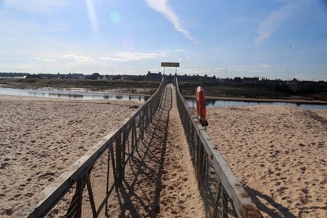 Bridge over the river Lossie, Lossiemouth