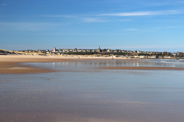 The beach at Lossiemouth