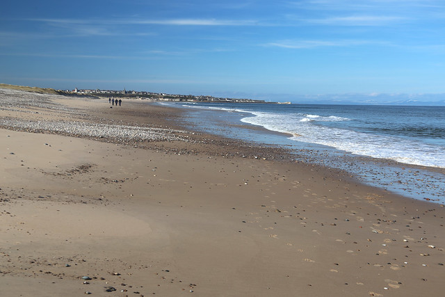 The coast between Lossiemouth and Kingston on Spey