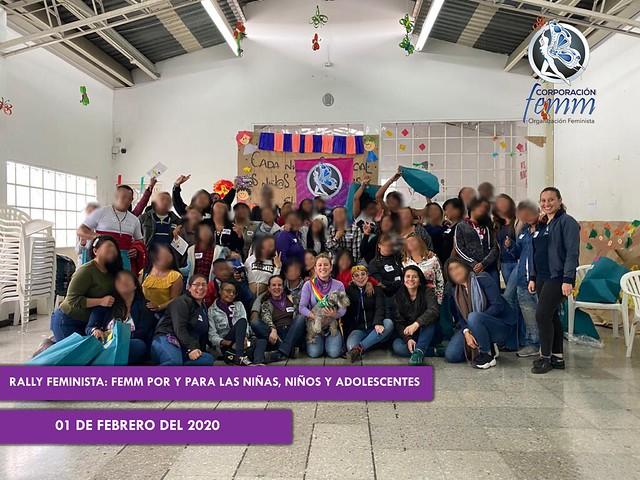 FEMM CON NIÑAS NIÑOS Y ADOLESCENTES RESCATADOS DE ESCNNA FEBRERO 2020