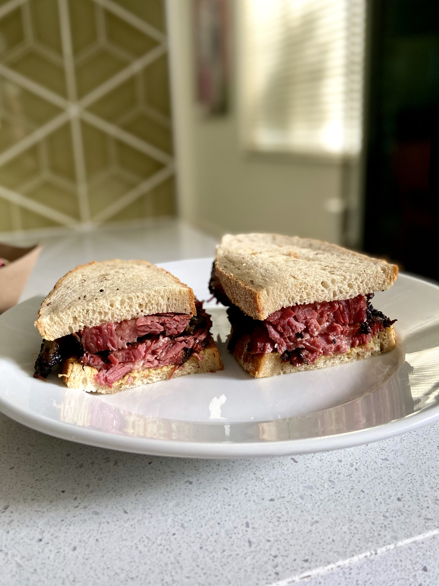 pastrami sandwich - Hometown Barbecue