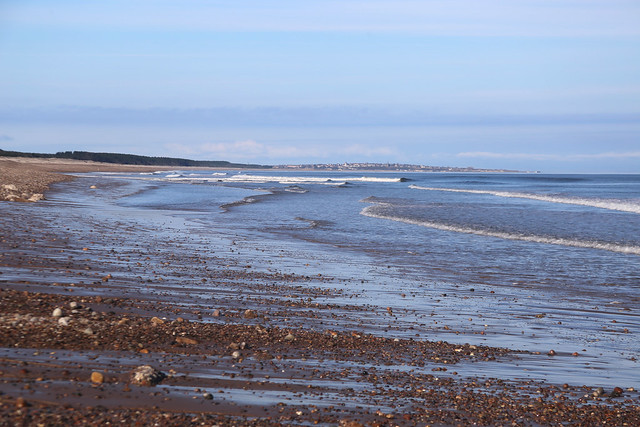 The beach at Kingston on Spey